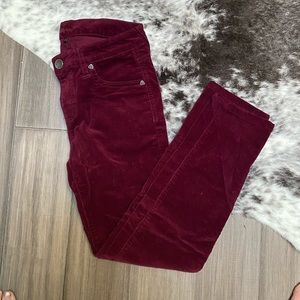Stretch Corduroy Skinny Pants